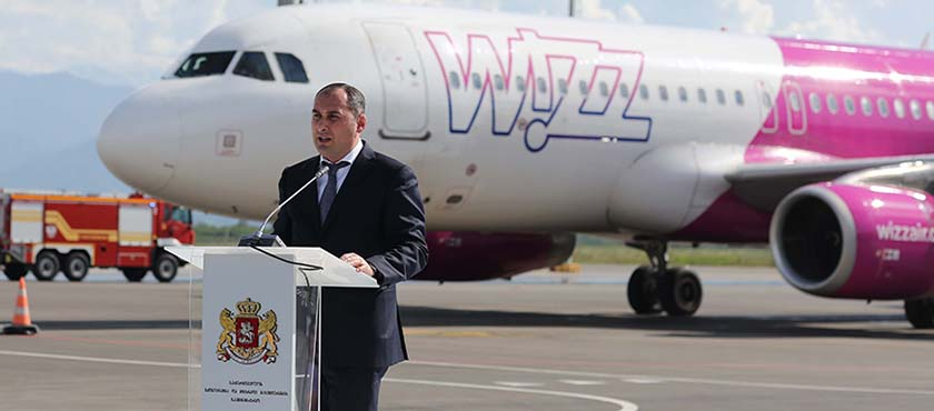Dimitry Kumsishvili Attended Official Event Dedicated to Opening of Wizz Air Second Base in Georgia – 17.05.2018