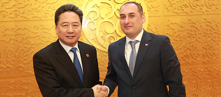 Dimitry Kumsishvili Met with Minister of Transport of the People's Republic of China, Li Xiaopeng - 13.04.2018