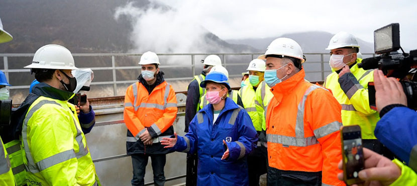 Natia Turnava Got Acquainted with the Rehabilitation Works of Enguri HPP Diversion Tunnel  - 5.02.2021
