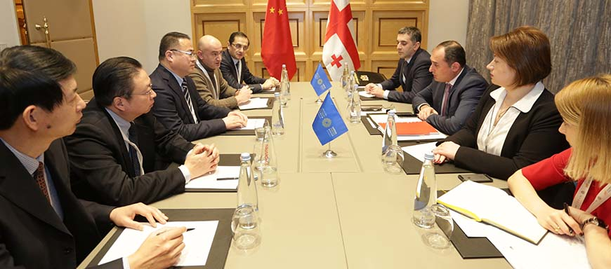 Dimitry Kumsishvili Held Meeting with Vice Mayor of Xiangyang City of the People's Republic of China, Zhang Xiaofan – 29.11.2017
