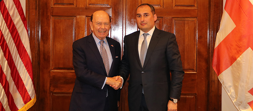 Dimitry Kumsishvili Met the United States Secretary of Commerce, Wilbur Louis Ross - 22.05.2018