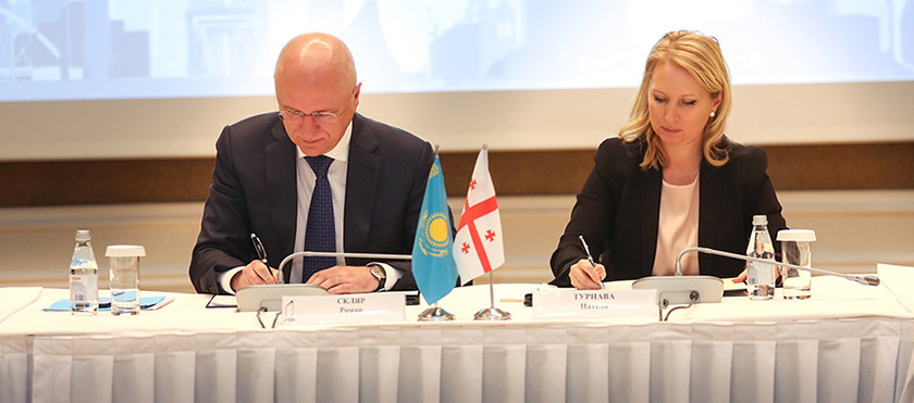 Georgia-Kazakhstan Economic Cooperation Inter-government Commission's 10th Session Protocol Signed - 23.04.2019