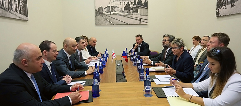 Giorgi Kobulia Met with Minister of Industry and Trade of Czech Republic, Marta Nováková - 14.09.2018