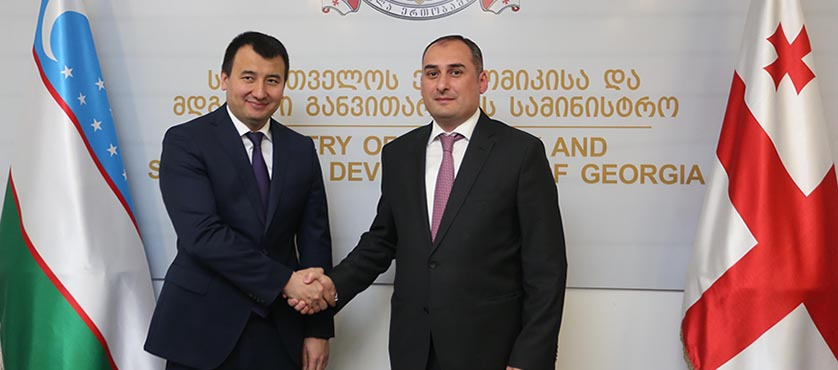 Dimitry Kumsishvili Met Governmental Delegation of Uzbekistan  – 14.05.2018