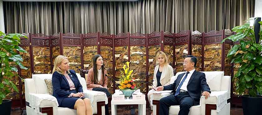 Natia Turnava Met with China's Gansu Province Governor, Tang Renjian – 5.11.2019