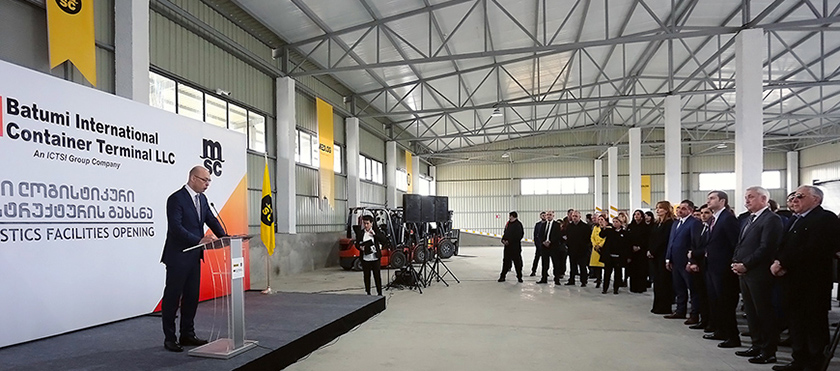 Giorgi Kobulia At New Multimodal Terminal Opening Ceremony in  Batumi International Container Terminal - 7.02.2019