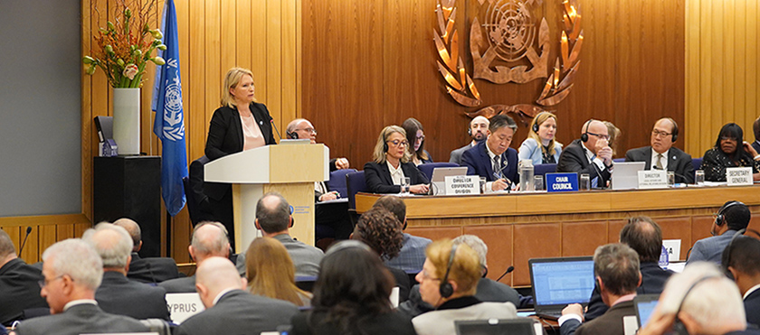 Natia Turnava delivers speech at Assembly of International Maritime Organization in London - 26.11.2019