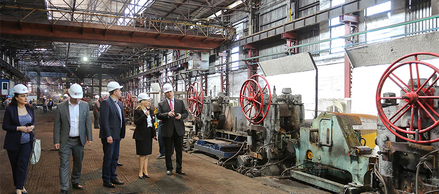 Natia Turnava Got Familiar with Production Process in Rustavi Steel – 14.05.2019