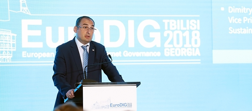 Dimitry Kumsishvili Officially Opened European Dialogue on Internet Governance - EuroDIG 2018 - 05.06.2018