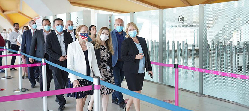 Natia Turnava and US Ambassador Kelly Degnan Examined Ongoing Construction Works at Kutaisi International Airport - 30.07.2020