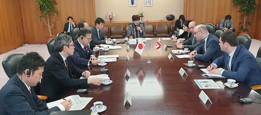 George Kobulia Met with Minister of Economy, Trade and Industry of Japan, Hiroshige Seko - 14.03.2019